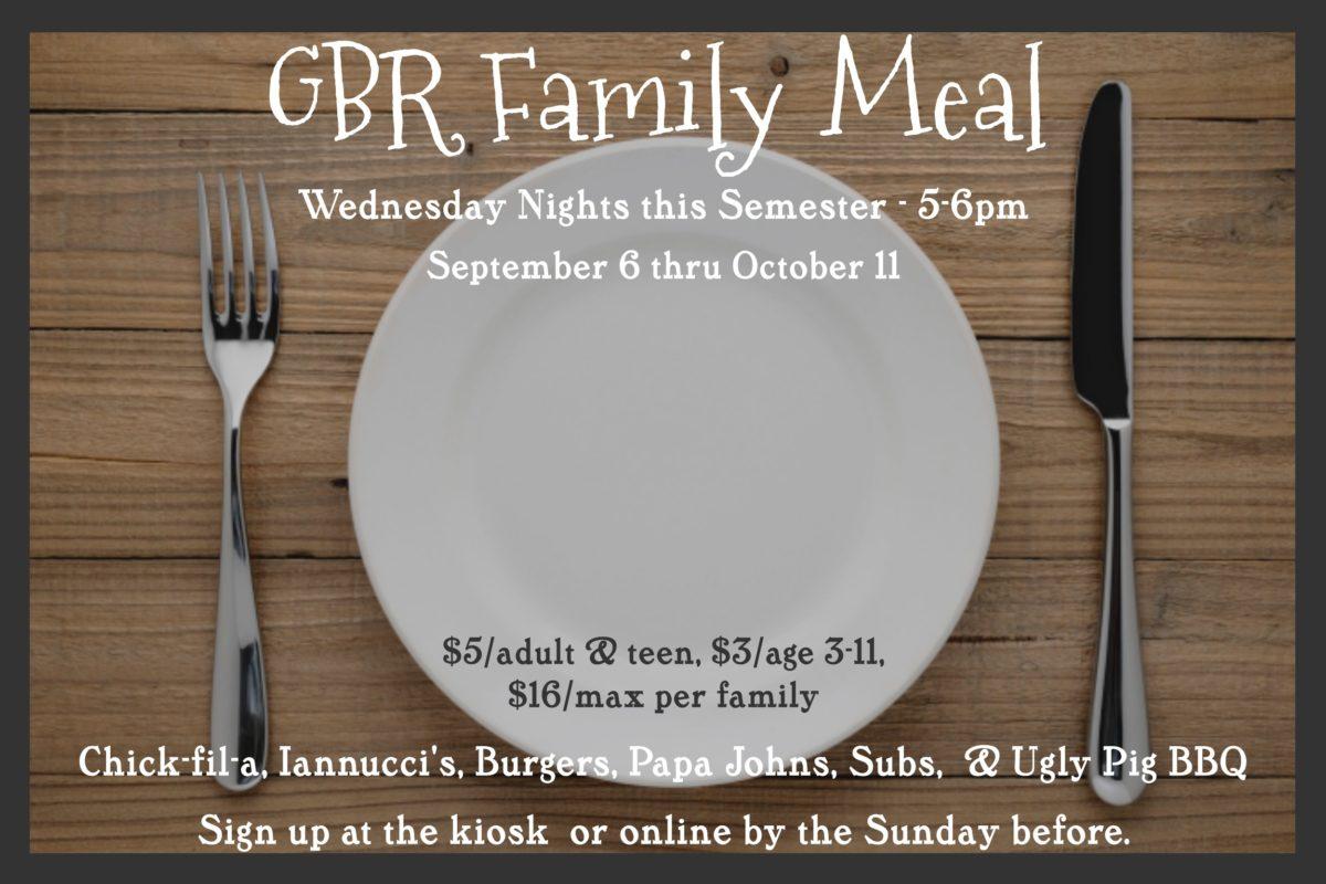 GBR Family Dinner Night