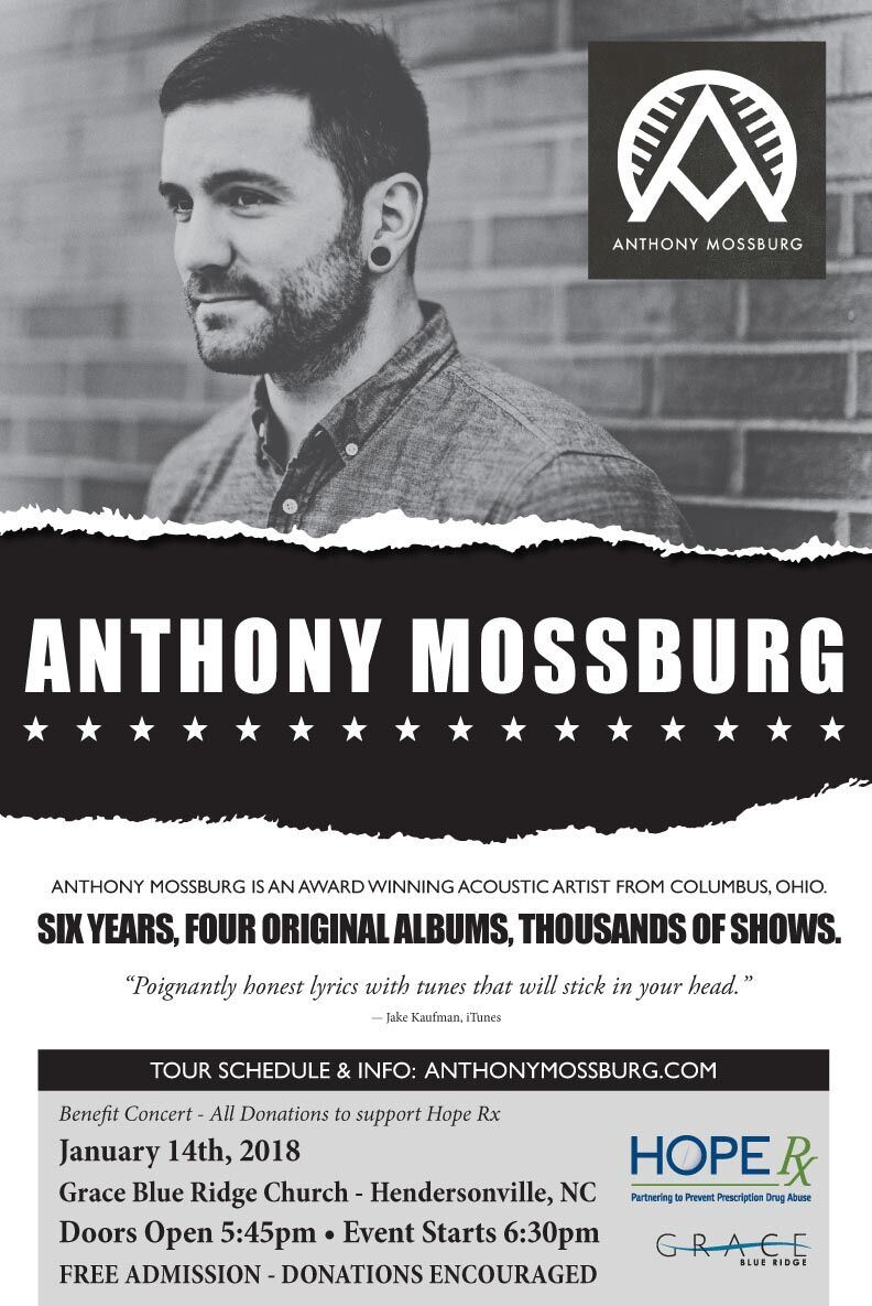 Anthony Mossburg Concert: January 14th
