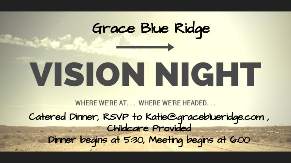 Vision Night Dinner March 23rd